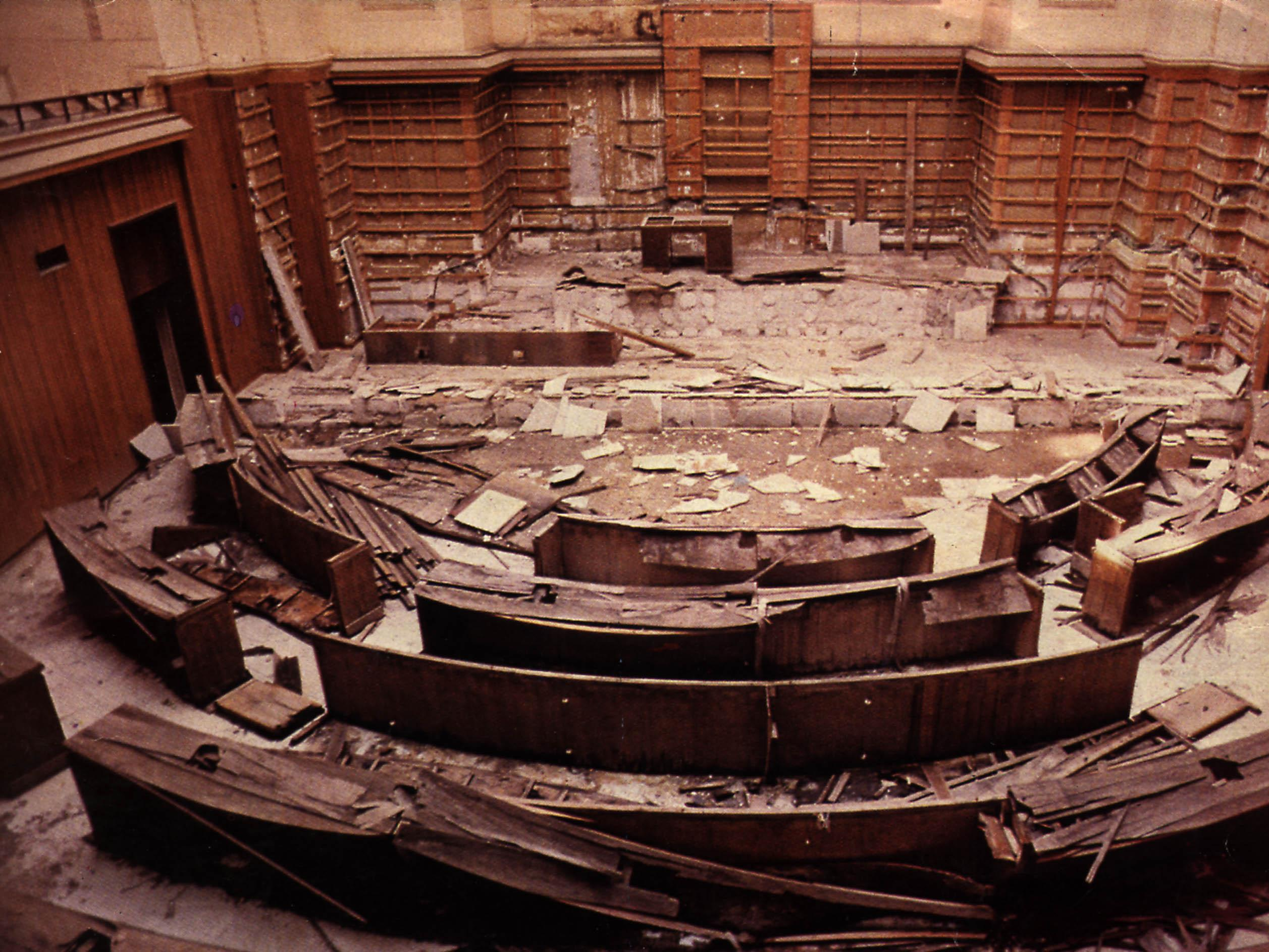 Destroyed Lebanese Parliament 1976