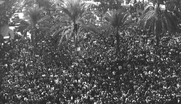 Beirut's Martyrs' Square during celebrations marking the release by the French of Lebanon's government from Rashayya prison on November 22, 1943