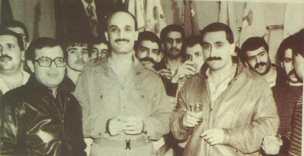 Geagea, Hobeika, and Pakradouni in 1985