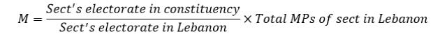 M formula