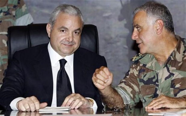 Former defense minister Elias Murr with Kahwagi
