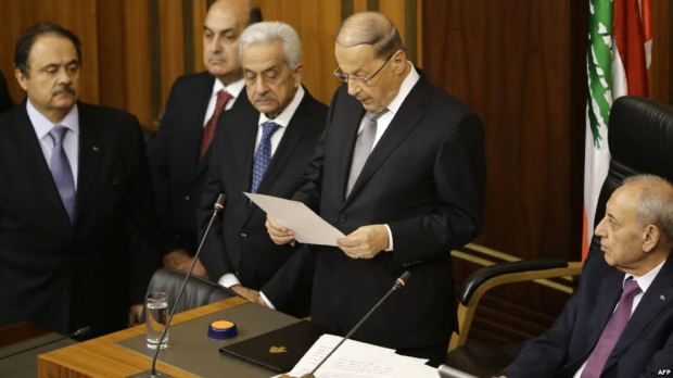 michel-aoun-gives-his-speech-to-the-parliament